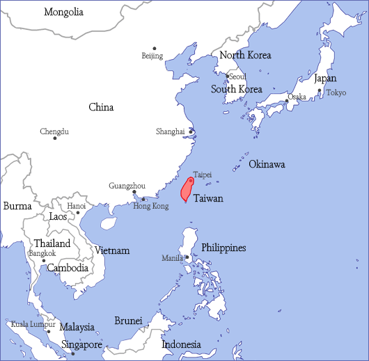 Taiwan Is Located Off The Southeastern Coast Of China Situated Between An To North And Philippines South Thailand For Reference