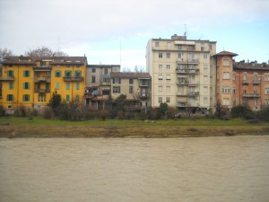 The view from across the river.