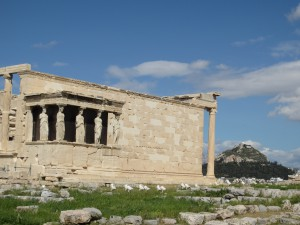 The Acropolis of Athens, a series of temples atop a towering plateau