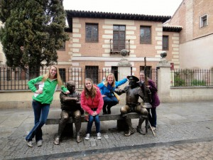 Checking out the Cervantes museum in Alcalá!