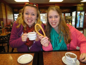Churros and chocolate with my baby sister, Shannon.