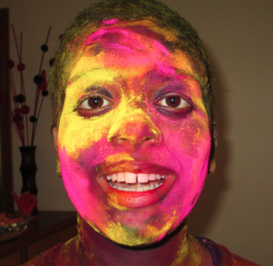 While most of us looked like a giant mess, Salil pulled off the dry colors really well- he looked fantastic!