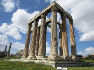 'The last of the Temple of Zeus' 104 columns'