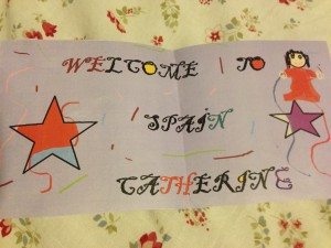 the welcome sign my little brother made for me!