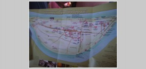 Map of the Island that we walked! And look, it's Naminara Republic.  It really is its own imaginary country.