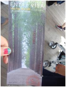 The VISA ticket I obtained!