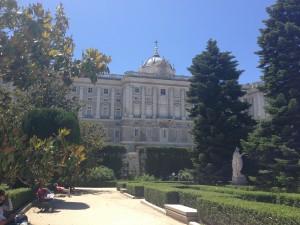 El Palacio Real in Madrid.