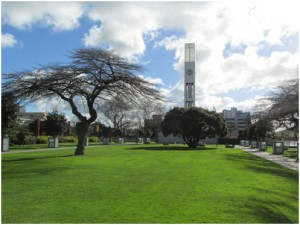 Center square and clock tower in Palmerston North