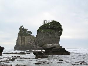 Rock Formations At Motukiekie Beach