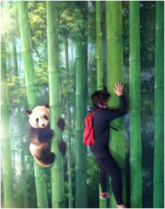 Climbing with my panda friend here.