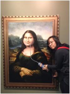 hahaha me and mona lisa
