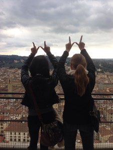 Overlooking the city of Firenze(Florence) from the top of the Duomo.