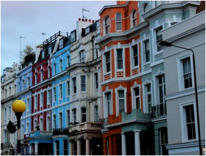 The colorful houses