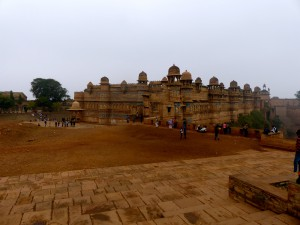 A magnificent fort in Gwalior. So unexpected