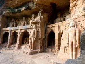 Jain stone carvings in Gwalior