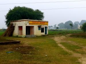 The panchayat, or town hall, of a village outside Varanasi