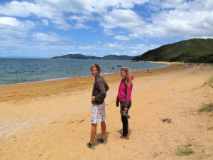 My Sister And I At One Of Abel Tasman's Many Beaches