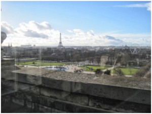 Unbelievable view of Paris from the Museum I visited today. I had to pinch myself; yes, I live here.