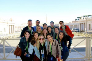The group in Vatican City at St. Peters Square
