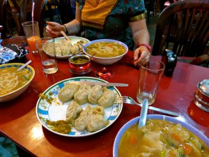 We opted for momos (delicious Tibetan dumplings) every day.