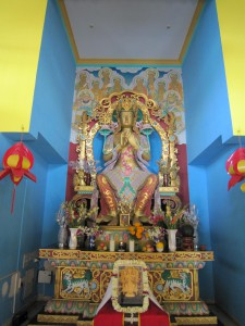 The temple in the cave where the Buddha meditated