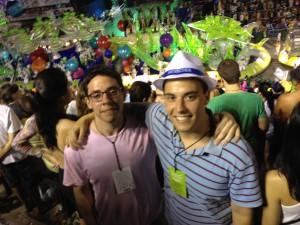 My brother and I at the Sambadrome