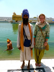 Making friends at the Golden Temple