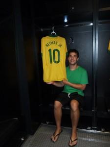 Me in the Brazil team Locker Room at Maracan+u
