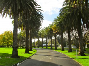 Entrance to the Victoria Esplanada—a park along the Manawatū River