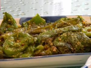 Tiger skin peppers were perhaps my favorite dish, lightly spicy with a hint of sweetness and sourness from the sugar and vinegar sauce.