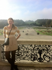 """The Schonbrunn Palace- described as """"our little Versailles!"""" in the hostel's map."""