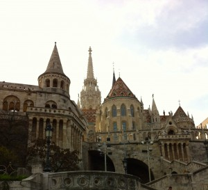 Quite honestly had no idea what to expect with Budapest- I just signed up for the trip and couldn't even begin to picture the city. This is Fisherman's Bastion, a terrace with a gorgeous view of the city below.