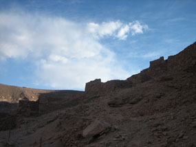 "These ruins belonged to the Atacameña people (or ""people of the Atacama region"") before the influence of the Incas and later the Spaniards"