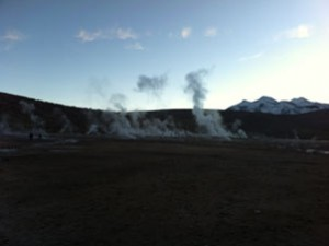 Geysers a little after sunrise