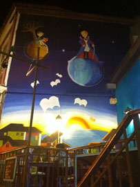 "Coffee shop murals of ""The Little Prince,"" one of my favorite books"