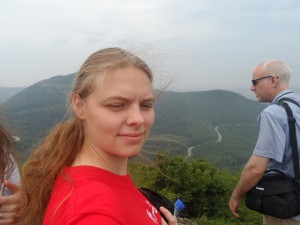 Don't let the face fool you,  the scenery was beautiful!
