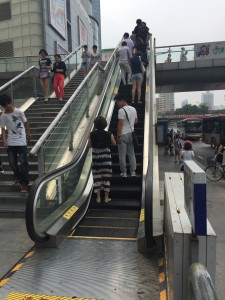 Only in China are there outdoor escalators! We need these for Bascom Hill.