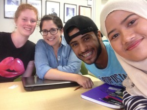 A last-day-of-class selfie with a few of my tutorial classmates.