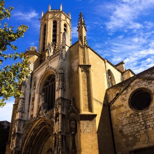 Cathédrale Saint Sauveur. Taken by Ye in August, 2015.