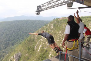 All 13 of us bonded as we bungee jumped the world's highest bungee bridge