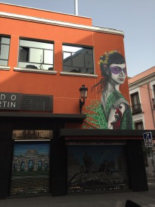 Mercado de Anton Martín, with a sweet bit of street art thrown in.