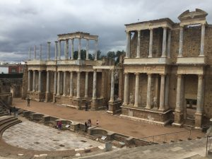 The ruins of the Roman theater in Mérida, the capital of Extremadura.