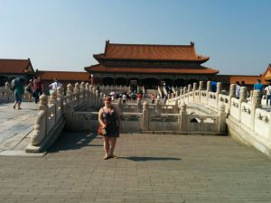 Me soaking in the sun in front of the Hall of Supreme Harmony.