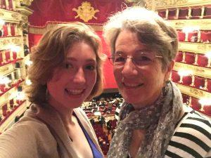 Me and grandma at the opera in Milan.