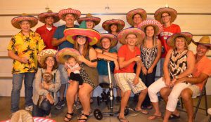 """My friends and family all came together for one last """"festive"""" goodbye party."""