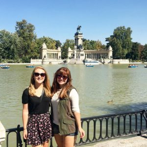My first visit to Retiro Park with one of my friends here!